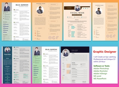 Professionally Rewrite & Design your CV/Resume in 24 hours