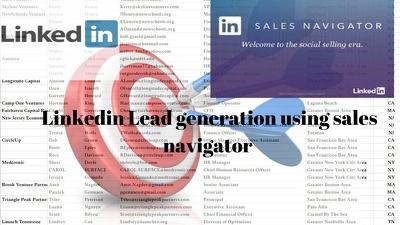 Do Find Linkedin Quality Fresh Lead Using Sales Navigator