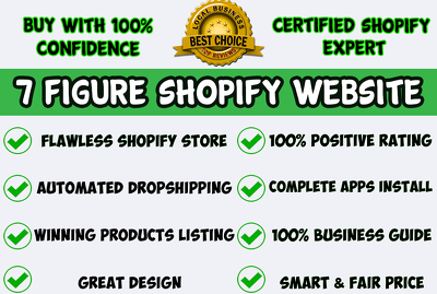 Setup your 7 figure shopify dropshipping store website