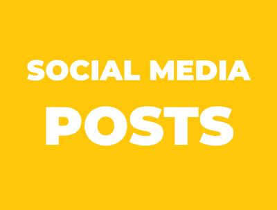 Create 5 social media posts