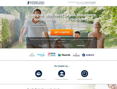 Develop business website / landing page