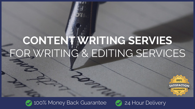 Content Writing for Writing & Editing Services