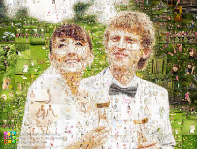 Create a photo mosaic from your photo
