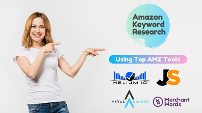 Do amazon keyword research and competitors analysis in detail