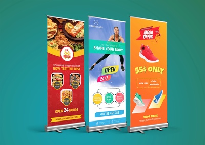 Design Roll-up Banner for your company within 24 hours