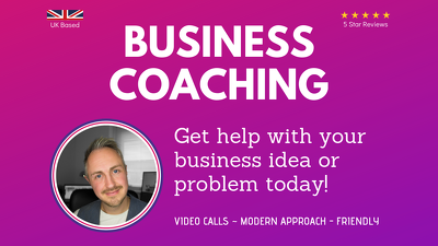 be your business consultant for 30 minutes to help you succeed
