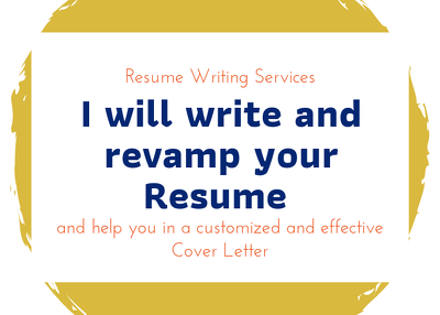 Create and Revamp your professional Resume or CV in 10$