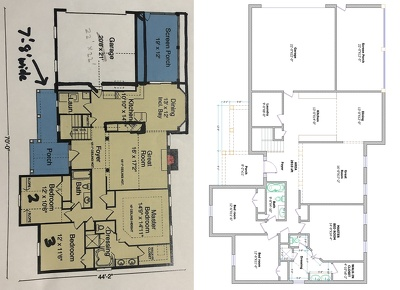 Redraw floor plan from any pdf, image, hand sketch, Blue print