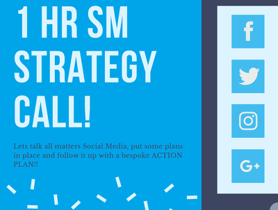 Provide a 1hr Social Media Marketing Strategy
