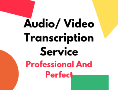 Do 30 mins English audio/ video Transcription