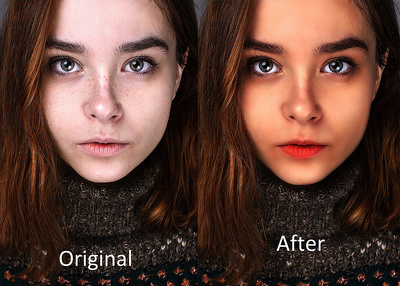 Photoshop editing/retouching with great proficiency