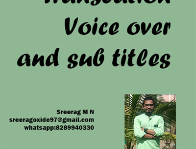 Make sub-titles in Malayalam and English