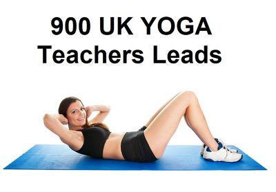 Provide 900 UK YOGA Teachers lead / Email list & Phone Database