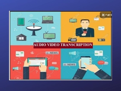 Transcribe Your 30 Min Audio Video Transcription In 24 Hours