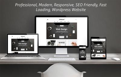 Build a modern responsive Wordpress website