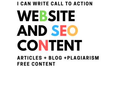 I can write call to action Website and SEO Content