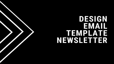 Design email template, newsletter responsive