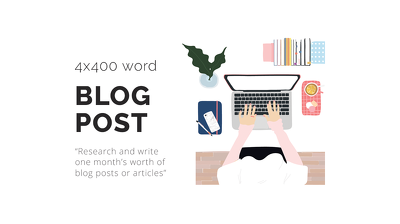 Write 4x400 Word Blog Post or Article For Your Company or Blog