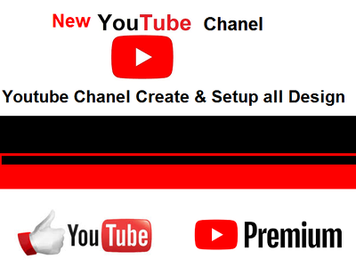 YouTube channel created and all setup Design