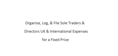 Organise, Log, & File UK & International Expenses