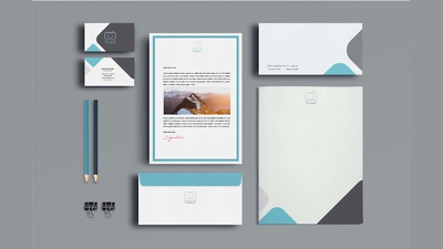 Design modern business card,letterhead and envelope