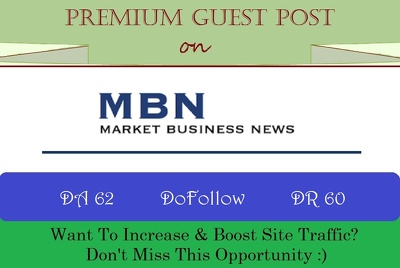 Guest Post on MarketBusinessNews.com with 3 DoFollows - DR 60