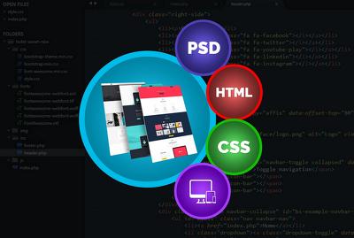 Design PSD, HTML & Responsive Landing website including UI/UX