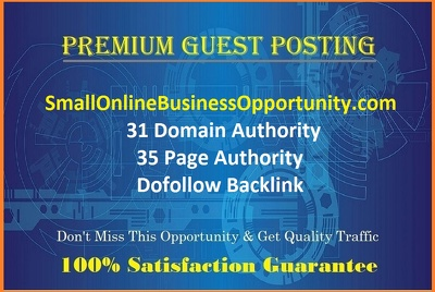 Do GUEST POST on SmallOnlineBusinessOpportunity.com - DOFOLLOW