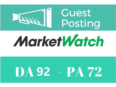 Dofollow guest post Marketwatch, Marketwatch.com [Limited Offer]