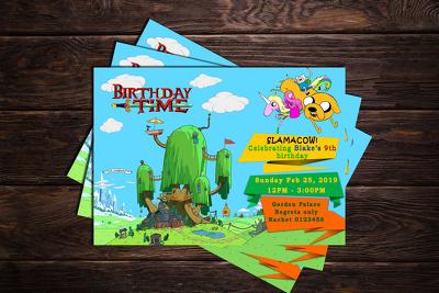 Create cartoon kids invitation