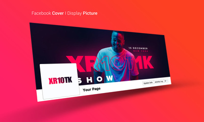 Design a professional Facebook cover and profile picture