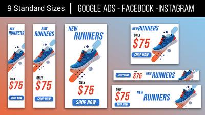 Design Original Banner Ad Set (9 sizes) Google Advertising GDN