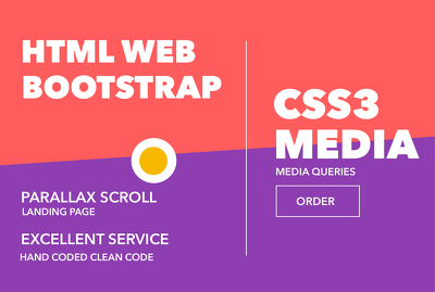 Make Responsive Html or Bootstrap Landing Page