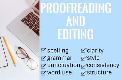 Proofread and copyedit 2000 words to perfection