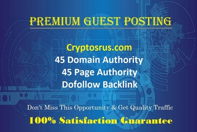 Place GUEST POST on Cryptosrus.com with Dofollow Backlink