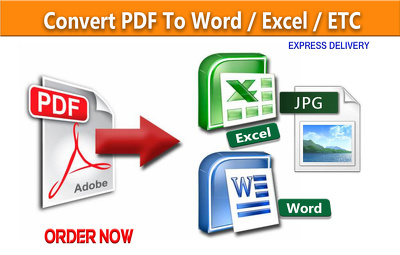 Convert 15 page PDF or Image in to Ms word