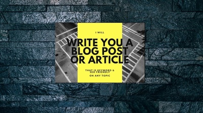 Write a creative and engaging blog article up to 1000 words