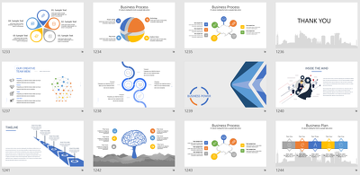 Create a modern powerpoint presentation for you
