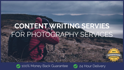 content Writing for Photography Services