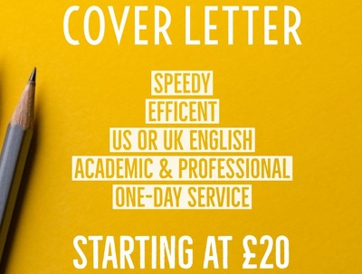 Write SAME DAY Cover Letter 500 words or less