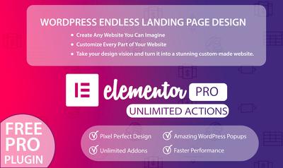 Build endless wordpress design using elementor pro