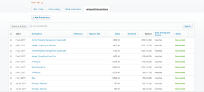 Reconcile bank/credit card statement in XERO