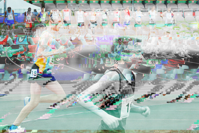 Create a glitch art piece from your photograph(s)