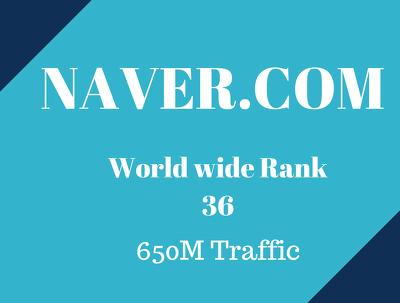 Guest Post on 650M Traffic Website www.naver.com