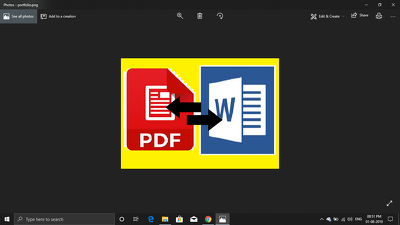 Change WORD in to PDF or PDF into WORD