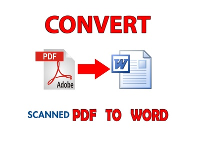 Convert up to 25 pages of scanned PDF to MS Word