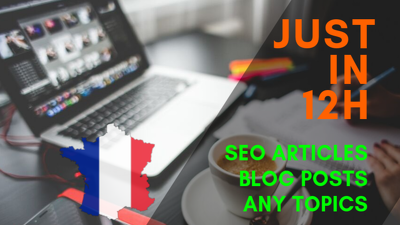 Write a french creative SEO article or blog posts in 24h
