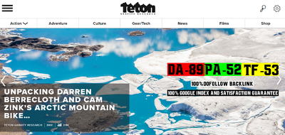Publish Guest Post on TetonGravity.com DA89, TF53 Dofollow Links