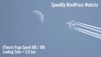Do website speed optimization or faster than before.