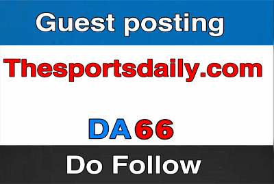 Publish a guest post on TheSportsDaily TheSportsDaily.com DA66